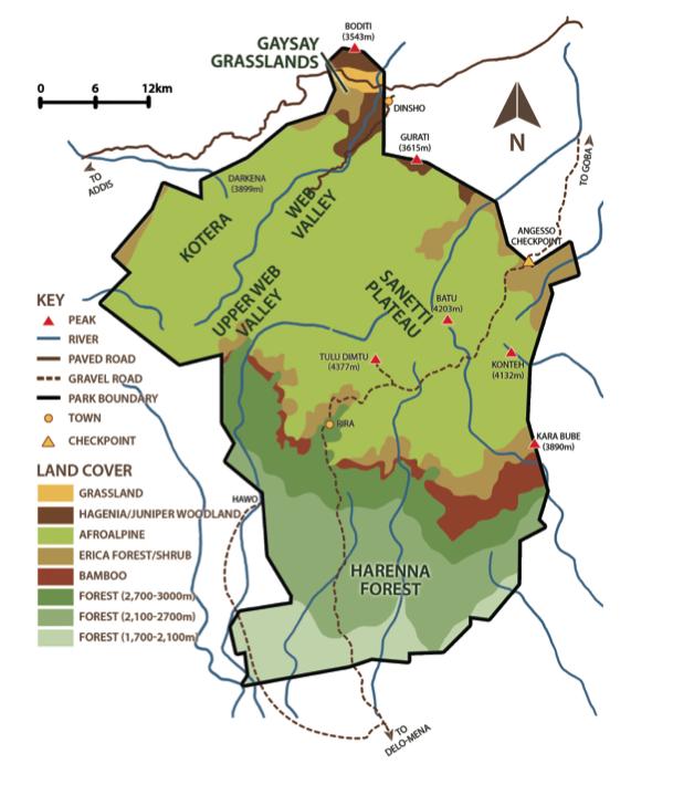 Birding booklet map