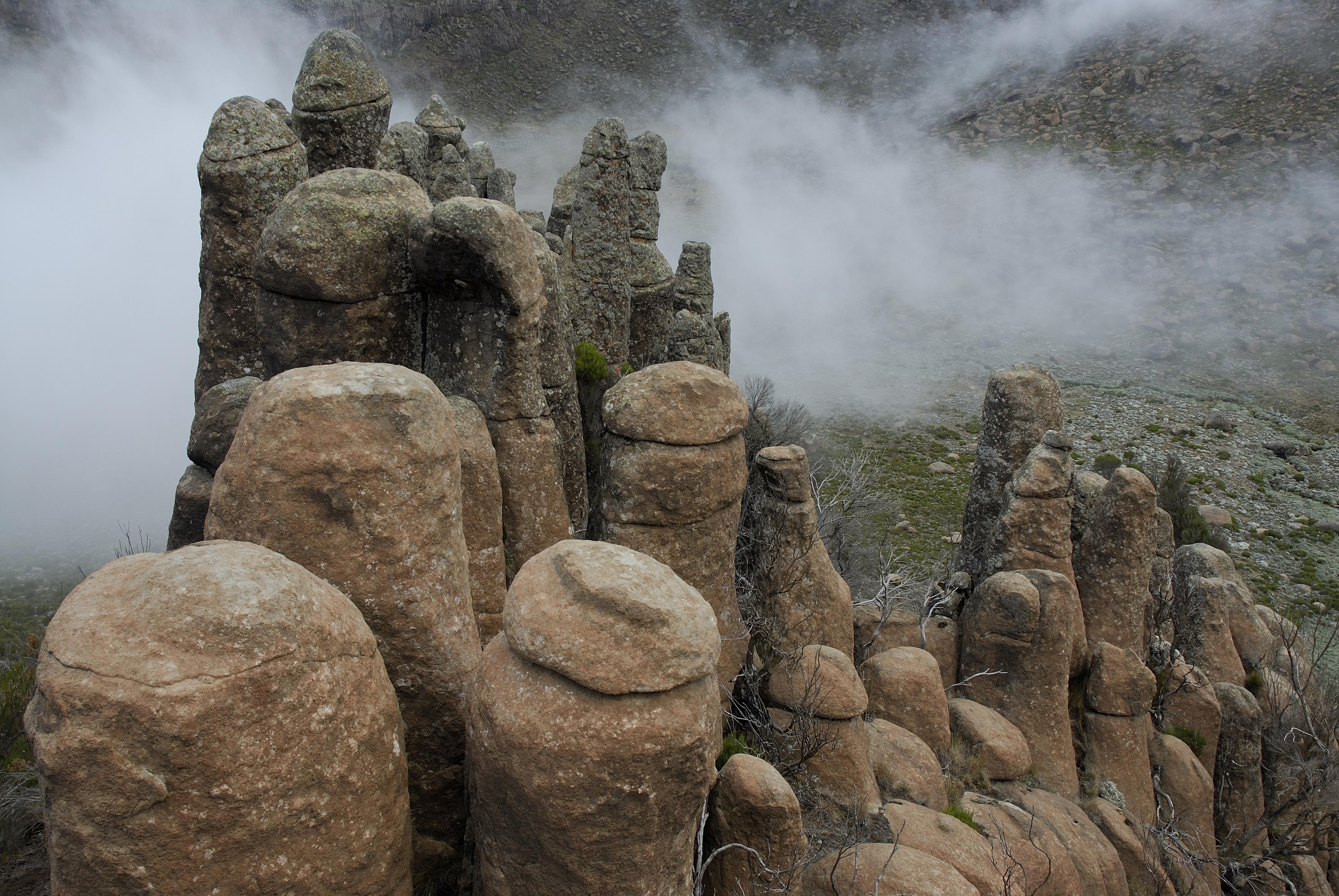 Rafu Rock Pinnacles. Photo by Delphine Ruche. Bale Mountains
